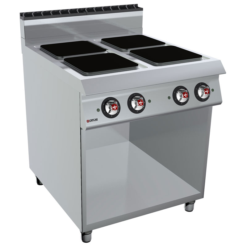 Cucina professionale elettrica 4 piastre quadre e vano - Cucine con piastre elettriche ...